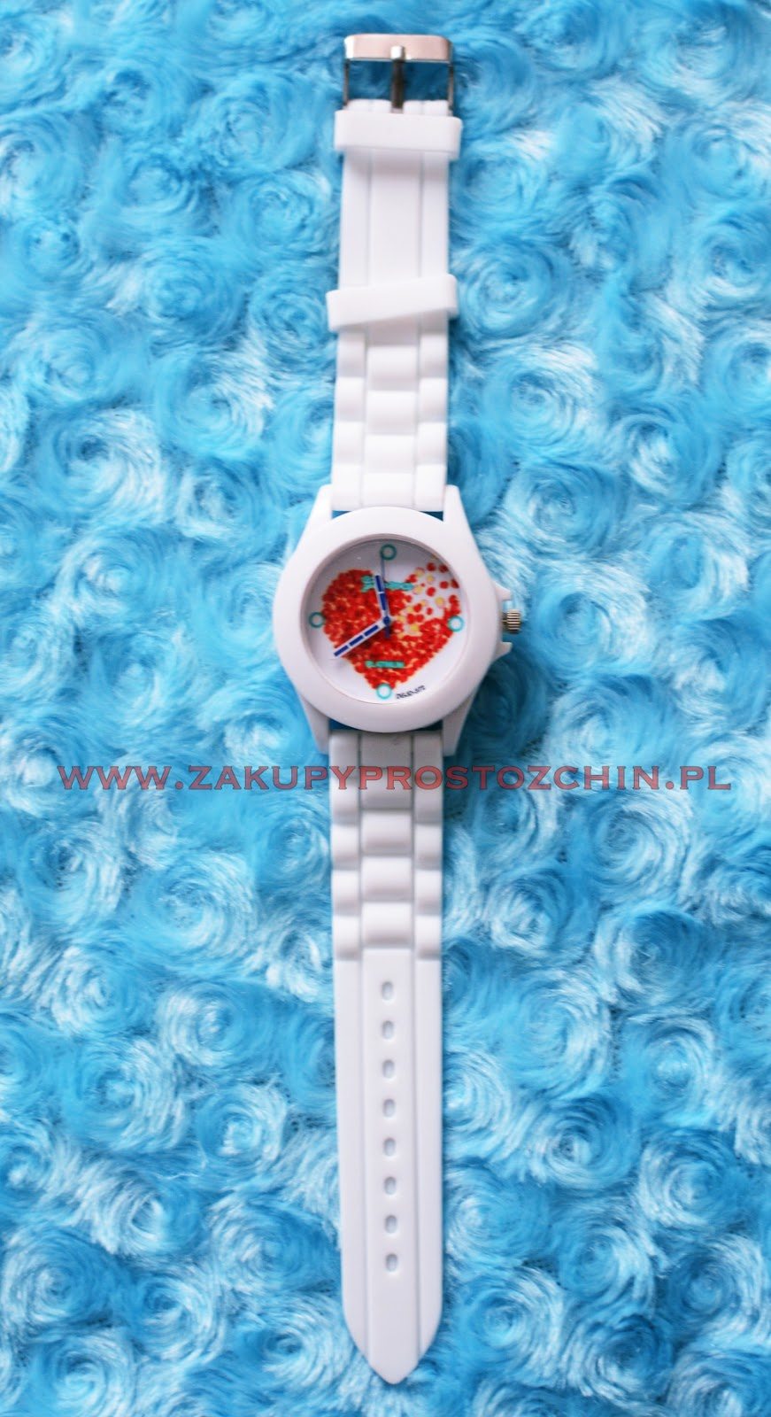 Zegarek Geneva z silikonowym paskiem