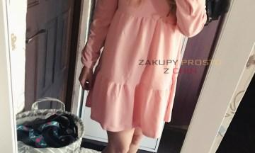 Jesienna sukienka oversize z aliexpress