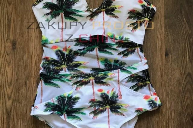 Kostium kąpielowy palmy