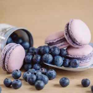 Makrónka čučoriedka. Ružová cukráreň Nitra