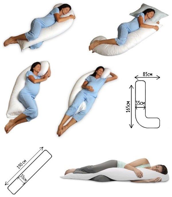 В каких позах можно спать беременной в картинках