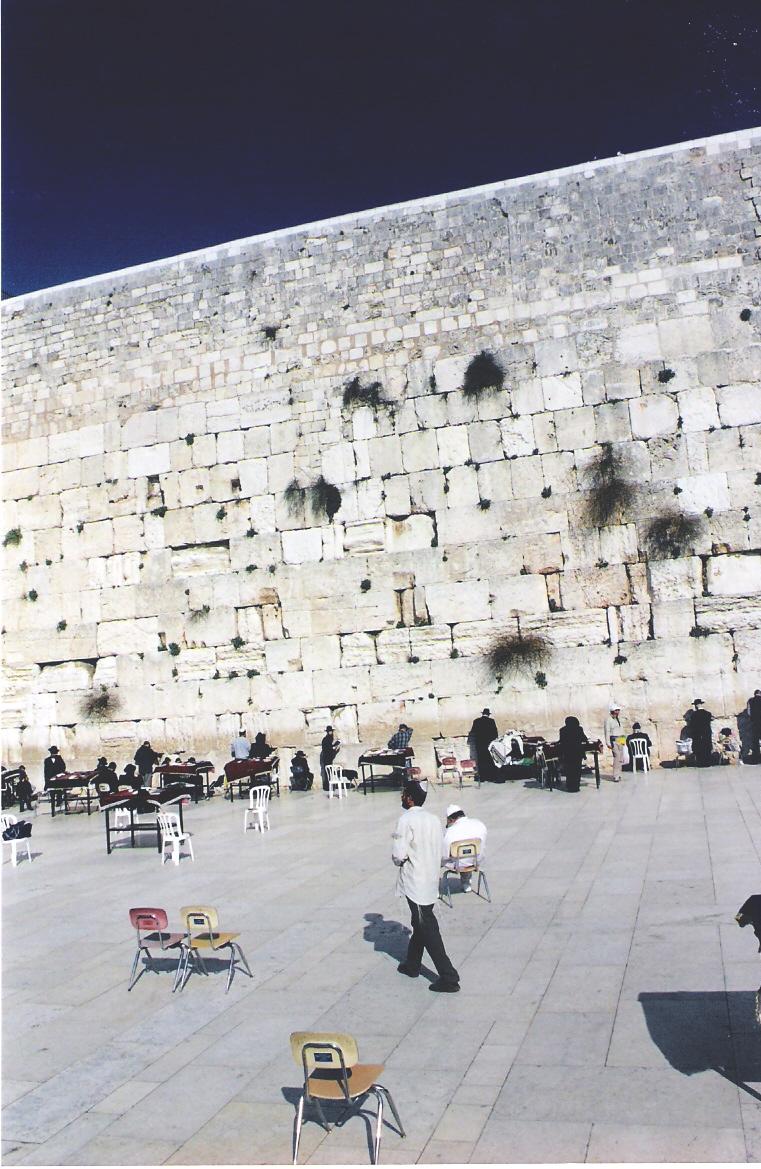 Το εξωτερικό τείχος (των Δακρύων) του περιβόλου του Ναού του Σολομώντος