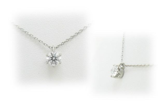 ダイヤモンドをプチネックレスへリフォーム。6本爪・ティファニータイプのペンダント枠