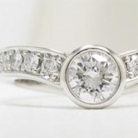 リフォーム指輪デザイン、V字爪無し、メレダイヤを敷き詰めたアーム