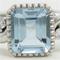 アクアマリンとアイスブルーダイヤをアクセントに指輪のリフォーム例