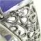 ラベンダー翡翠のリングへリフォーム。透かし模様のデザイン
