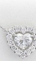 オーダーメイドで制作したハートシェイプダイヤモンドのペンダント