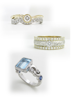 オリジナリティ豊かなデザインの指輪リフォーム画像