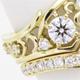 婚約指輪リフォーム、メレダイヤの幅広透かし模様がリッチなリングへ