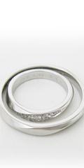 オリジナルデザインのセミオーダーマリッジリング、婚約指輪、地金変更可