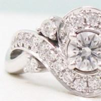 一粒ダイヤモンドリングからリフォーム、メレダイヤで太めデザインに