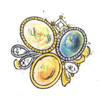 オパールリングのデザイン画