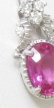ピンクサファイヤのペンダントのリフォーム