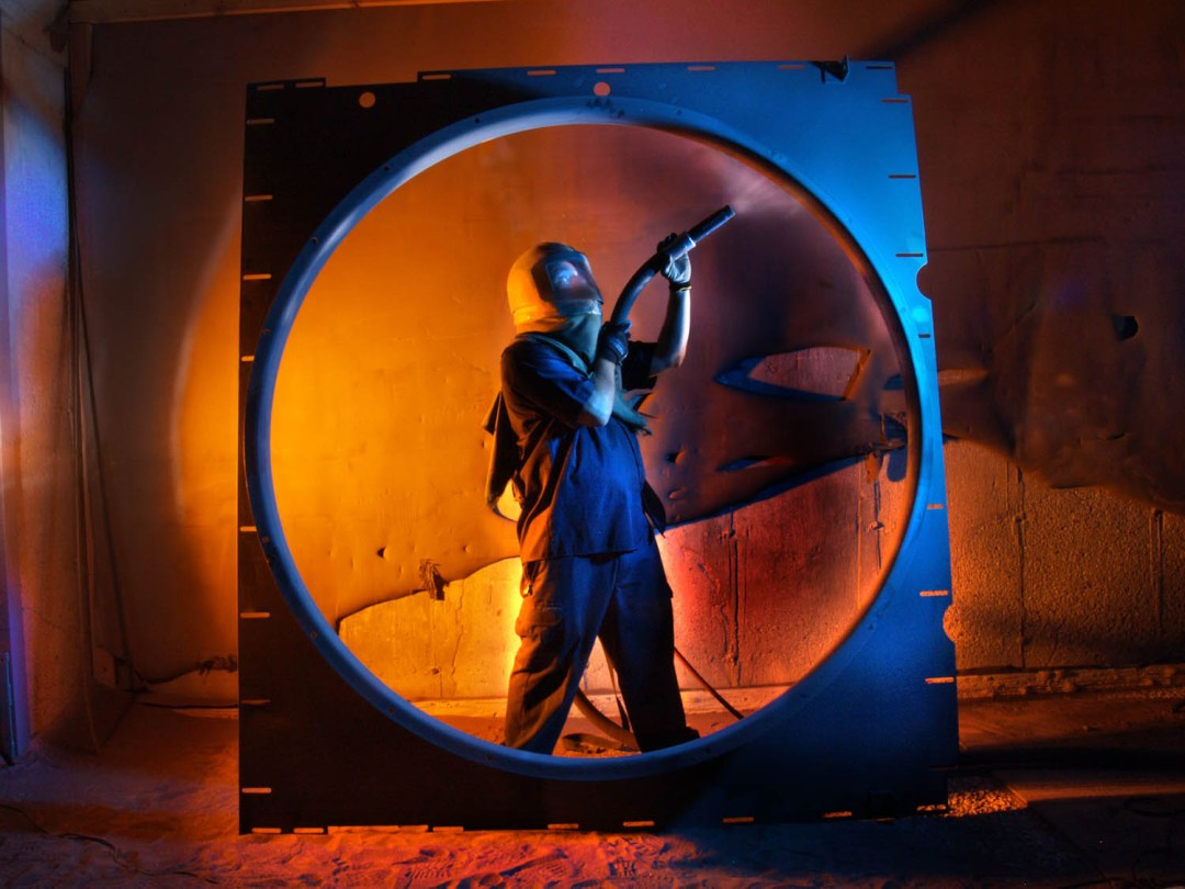 The Blast Shop - Venturi ring sandblast ©2008 Larry Zamba
