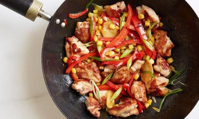 sweetcorn stir fry