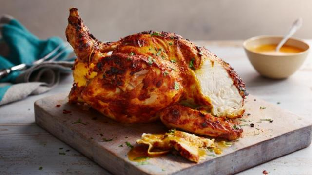 Spiced roast chicken