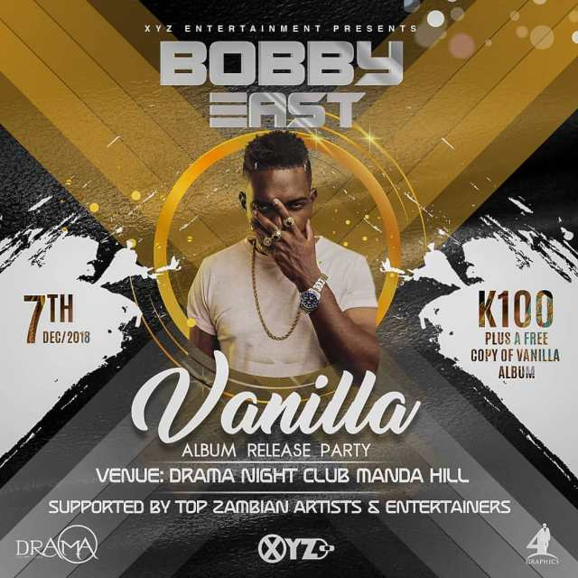 Bobby East Vanilla album launch