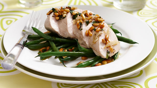 Lemon poached chicken