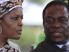 Emmerson Mnangagwa and Grace Mugabe