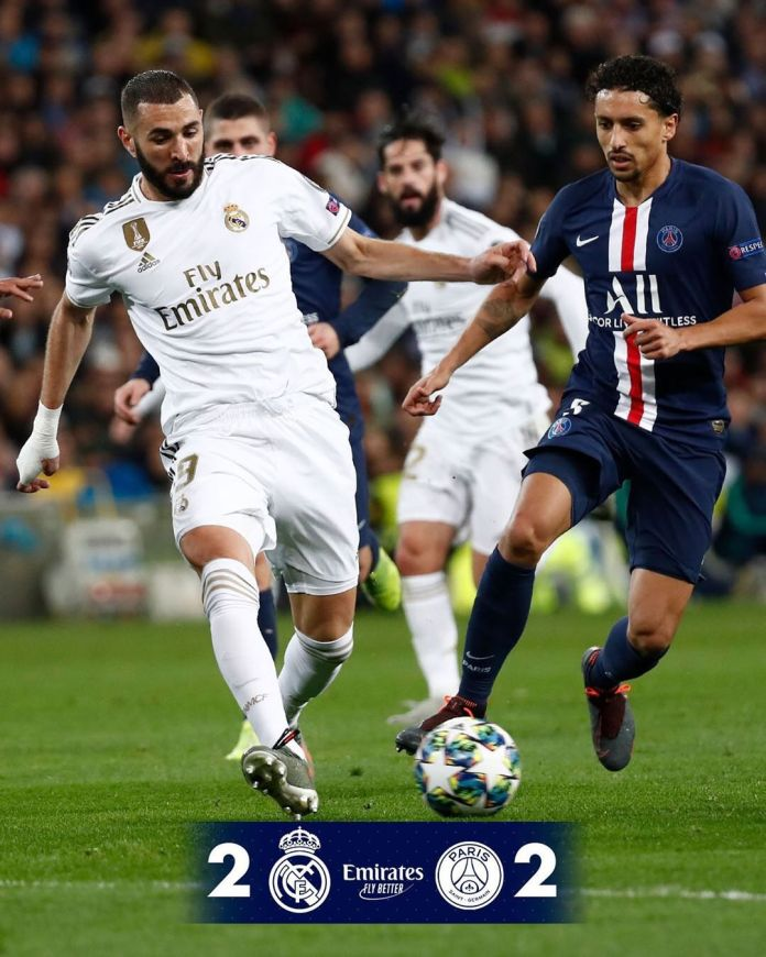 Real Madrid, PSG play to a 2 – 2 draw