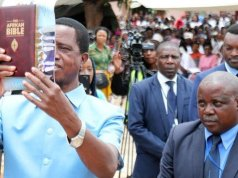 Edgar Lungu at Church