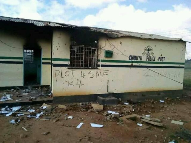 Chibuyu Police Post Burnt