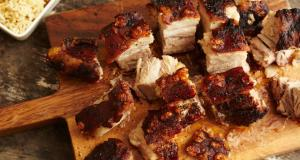 pork belly with rice parcels