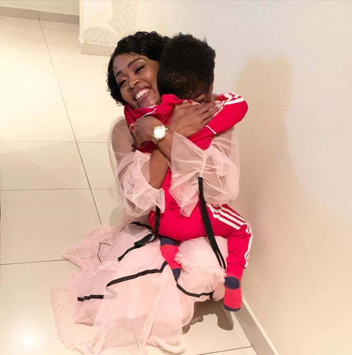 Thembi Seete's son makes her day special with a sweet birthday gift