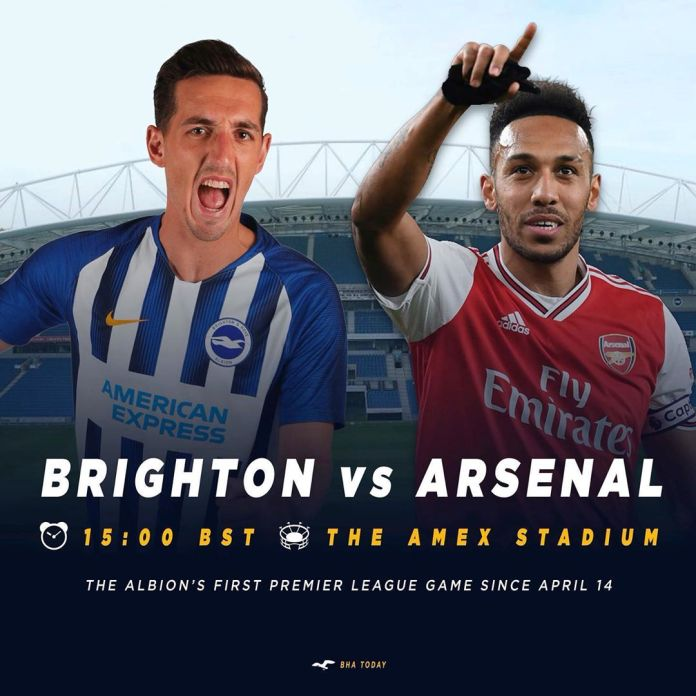 Arsenal suffers second defeat in the hands of Brighton Hove Albion