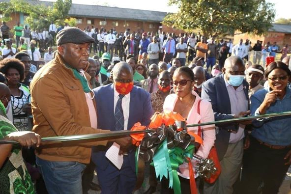 Province Minister Bowman handed over a refurbished dormitory on Saturday to his old high school