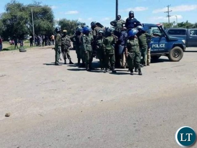 Police in full riot gear to disperse peaceful protests