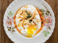 Butter-poached egg