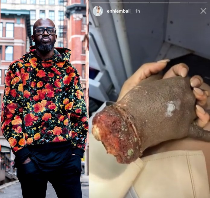 DJ Black Coffee reacts to hand joke made by ex-wife Enhle Mbali