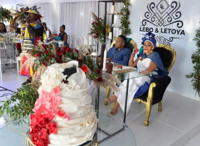 Letoya Makhene and Lebohang Pulumo's wedding
