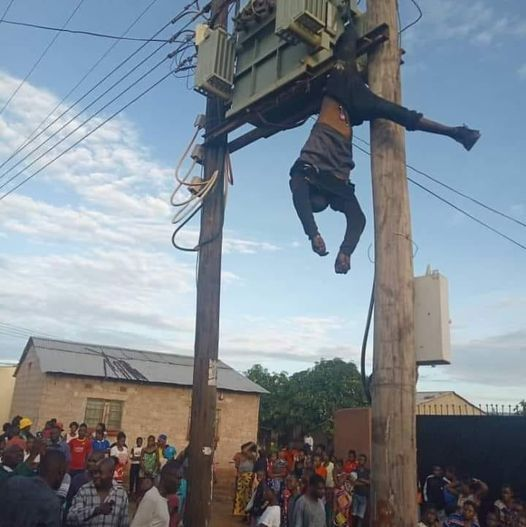Lusaka man electrocuted after a failed attempt to drain transformer oil – Photos