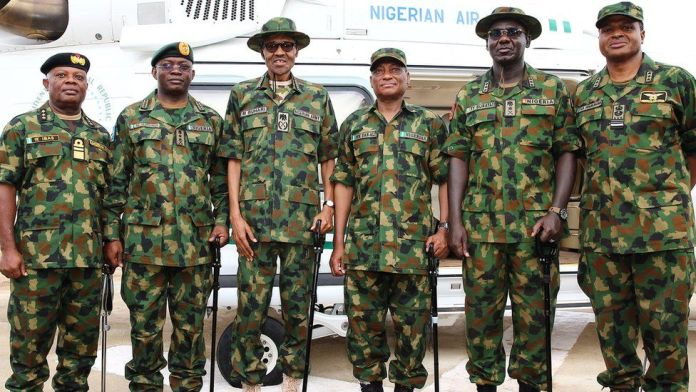 President Buhari fires armed forces chiefs