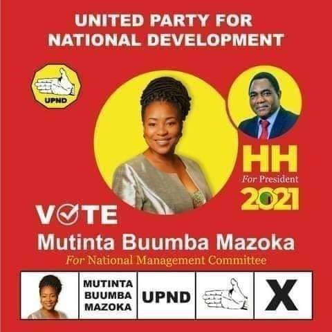 Fred M'membe's wife joins HH's UPND