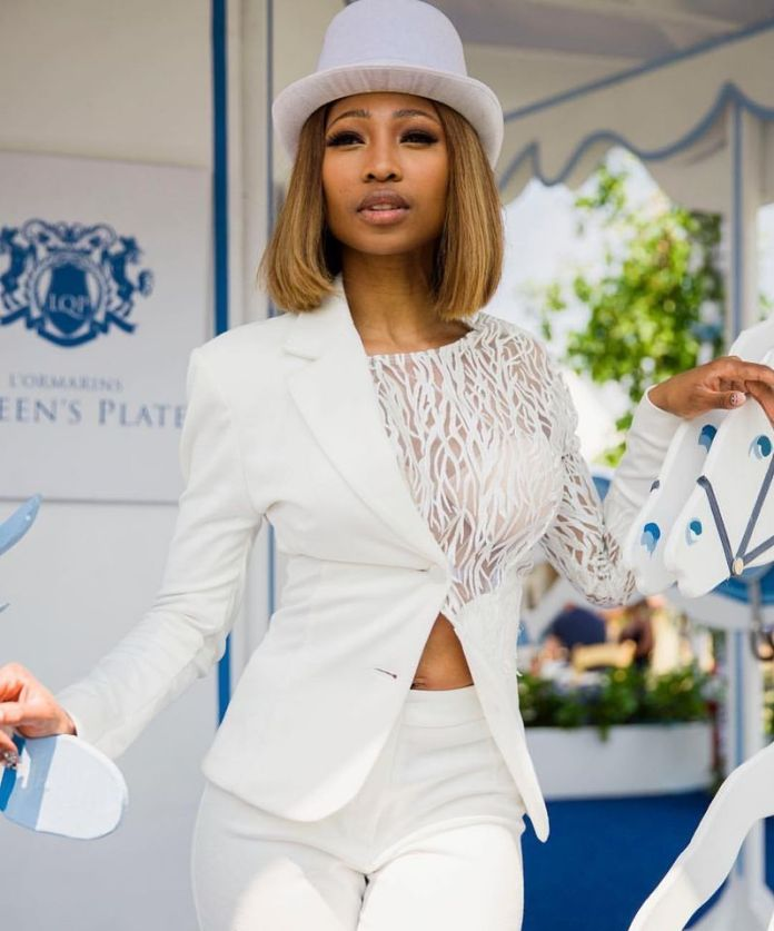 This is how rich actress Enhle Mbali is