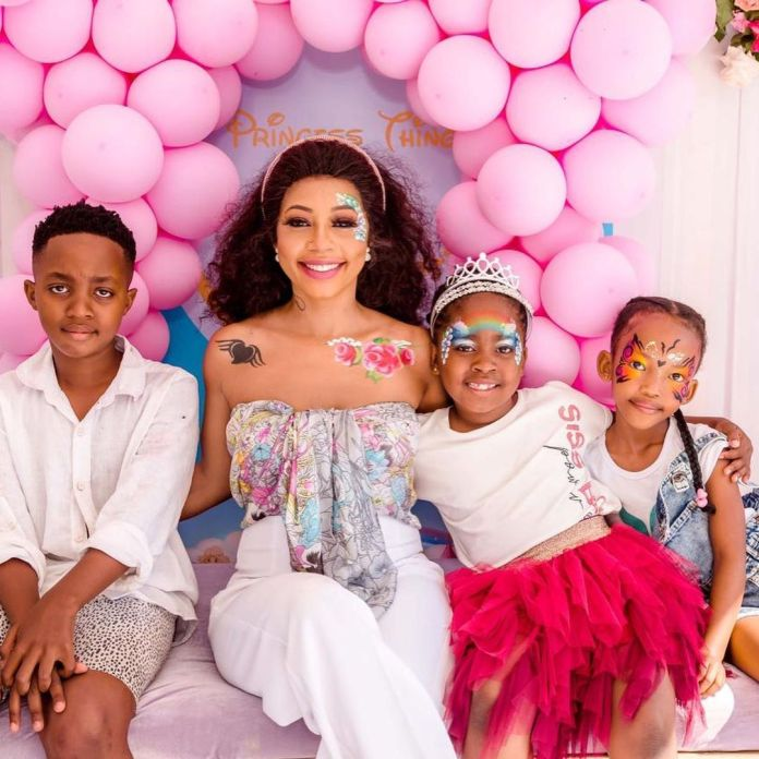 A look into Kelly Khumalo and Senzo Meyiswa's daughter Thingo's 7th Birthday Party