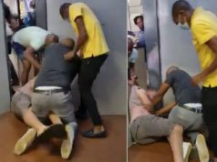 Police Officers stand by as man is assaulted inside police station