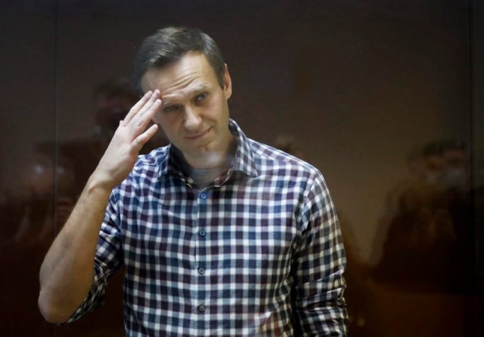 Russian opposition leader Alexei Navalny in court after 24 day hunger strike