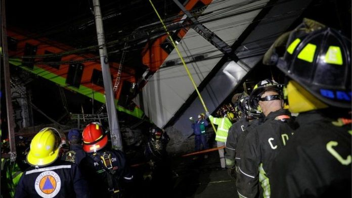 23 die and several injured after a metro overpass collapsed in Mexico City
