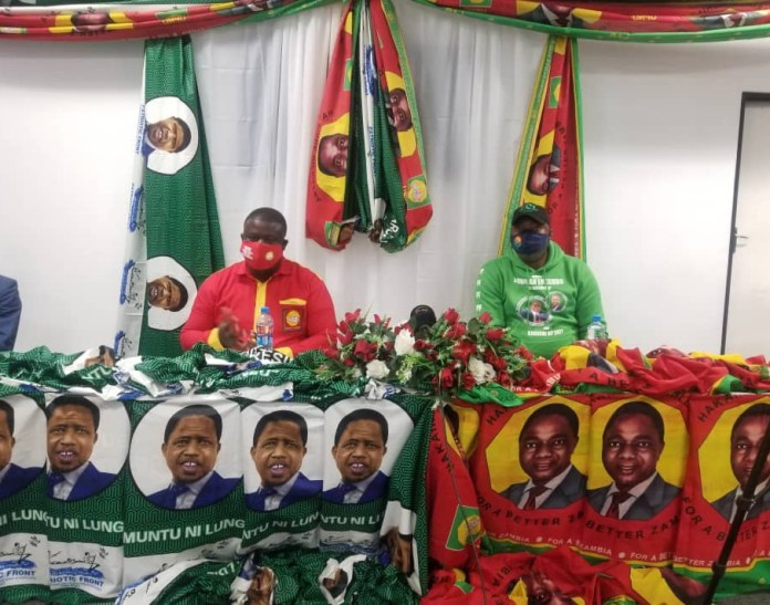 PF and UPND in Ndola sign peace accord for peaceful campaigns
