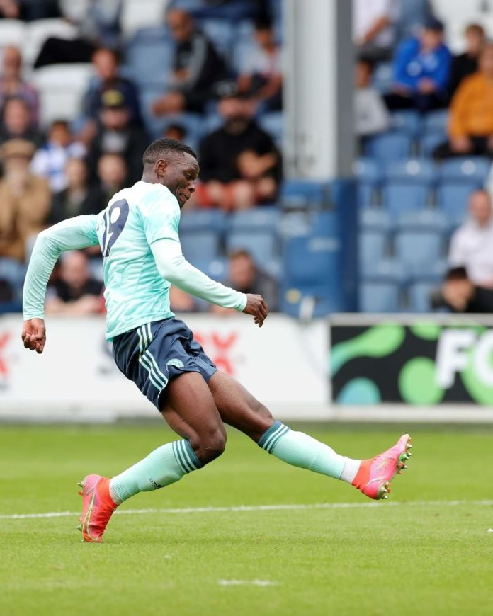 Video: Patson Daka scored his first ever goal in Leicester colors