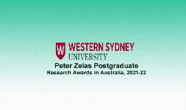 Peter Zelas Postgraduate Research