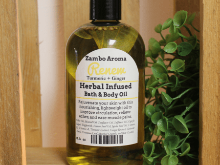 renew turmeric ginger body oil