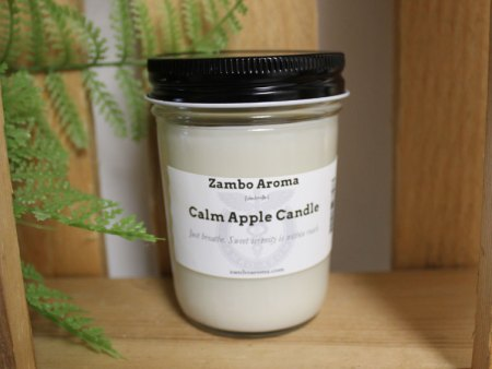 calm apple candle