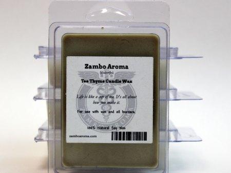 tea thyme candle wax