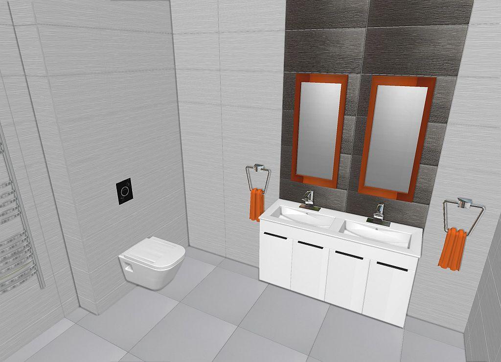 letisztult grafit-fehér fürdő