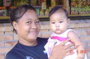 Etuale's wife Valeria & Baby Rachel